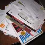 Pile of disorganized mail